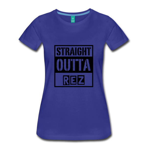 Straight Outta Rez Women's Premium T-Shirt - royal blue