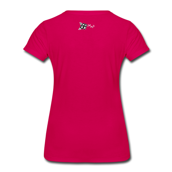 Straight Outta Rez Women's Premium T-Shirt - dark pink