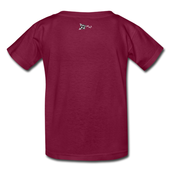 Straight Outta Rez Kids' T-Shirt - burgundy