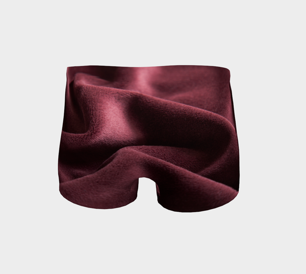 Red Wine Velvet Body Shorts
