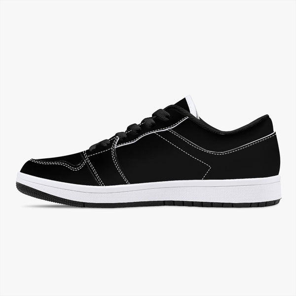 Fashion Ayasha Low-Top Leather Sneakers - Black/White