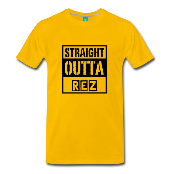 Straight Outta REZ Men's Premium T-Shirt - sun yellow