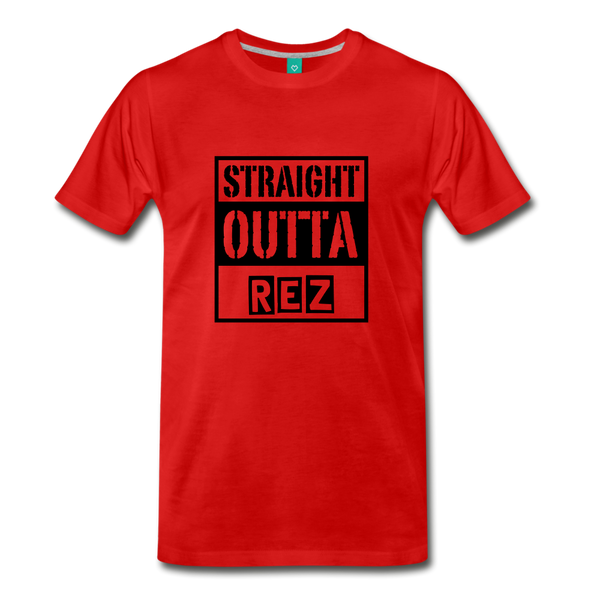 Straight Outta REZ Men's Premium T-Shirt - red