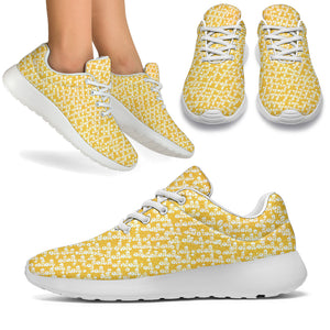 Yellow Fashion Ayasha Logo Sport Sneakers