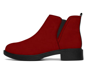 Dark Red Fashion Ayasha Fashion Boots