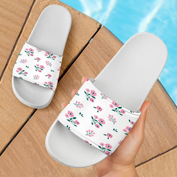 Cute Pink Flowers Slide Sandals