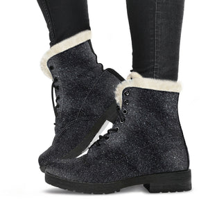 Black Sands Faux Fur Leather Boots