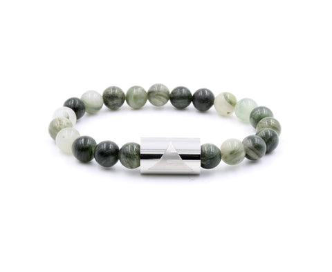 Elegant Green Jasper Beaded Bracelet