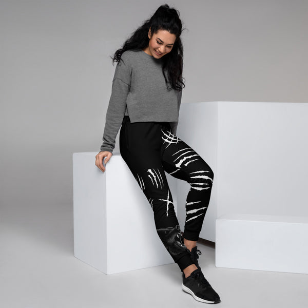 Bear Claw Scratch Black Women's Joggers