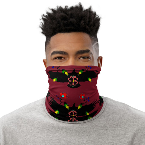 Eagle with Flowers Neck Gaiter Face Mask Headband
