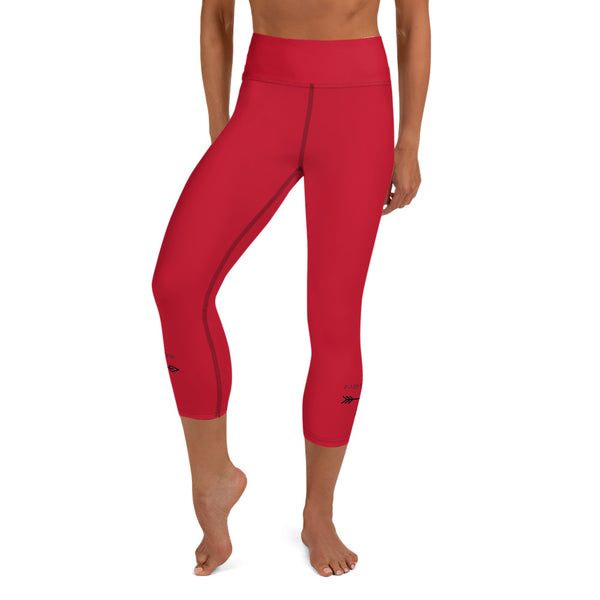 Red Yoga Capri Leggings