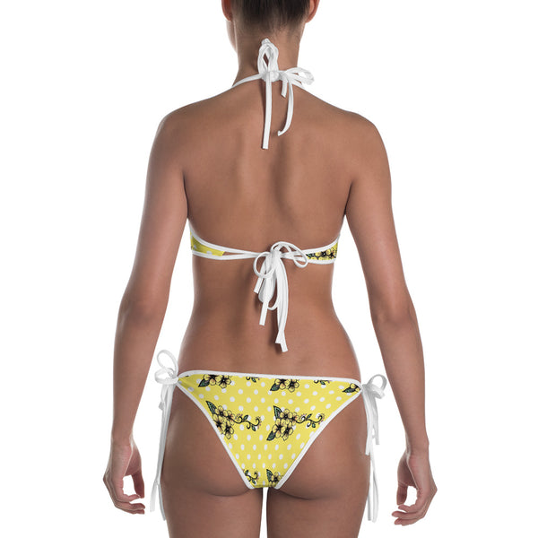 Vintage Floral Yellow Fashion Bikini