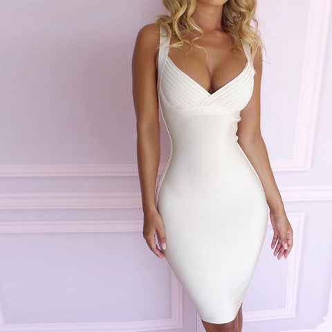 Women's Bodycon White Party Dress