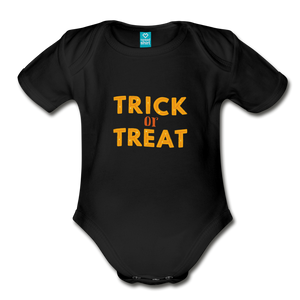 Organic Short Sleeve Baby Bodysuit - black