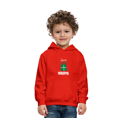 Gangsta Wrappa Christmas Kids' Premium Hoodie - red