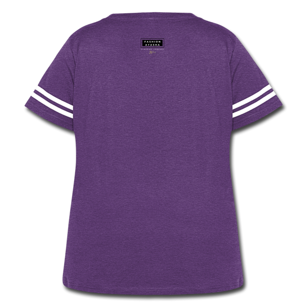 Women's Curvy Vintage Sport T-Shirt - vintage purple/white