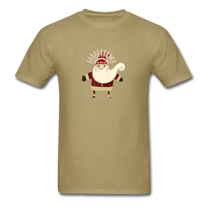 Santa Claus Men's T-Shirt - khaki