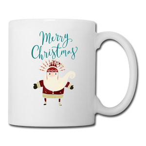 Merry Christmas Santa Claus Coffee/Tea Mug - white