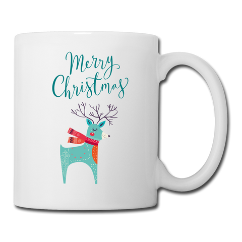 Merry Christmas Reindeer Coffee/Tea Mug - white