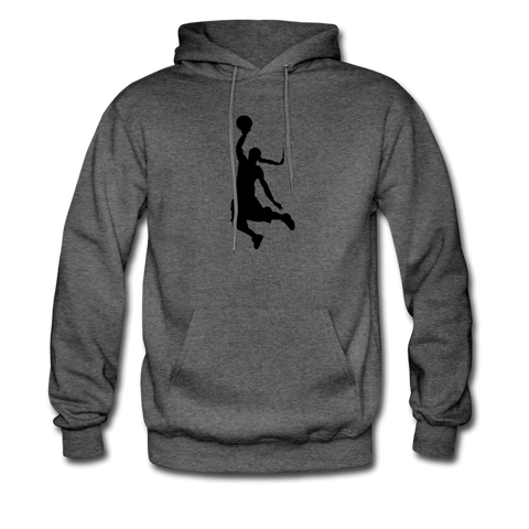Custom Men's Basketball Hoodie - charcoal gray