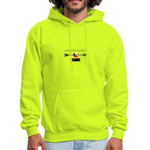 Neon Green Yellow Men's Sports Hoodie - safety green