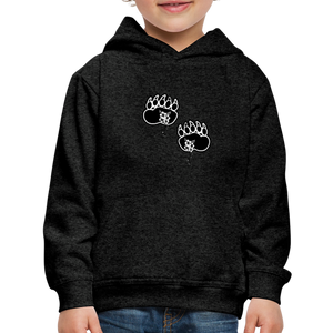 Fashion Ayasha Bear Paw Logo Kids' Premium Hoodie - charcoal gray