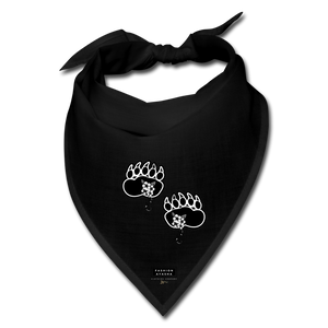 Fashion Ayasha Bear Paws Logo Bandana - black