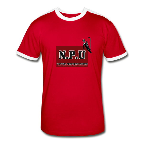 Native People's United Men's Retro T-Shirt - red/white