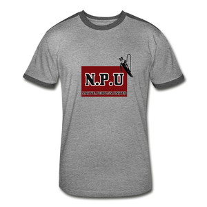 Native People's United Men's Retro T-Shirt - heather gray/charcoal