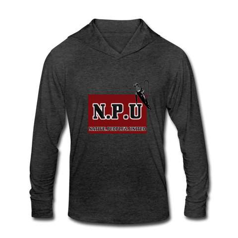 Native People's United Unisex Tri-Blend Hoodie Shirt - heather black
