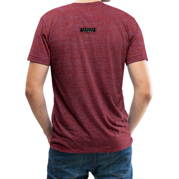 Native People's United Unisex Tri-Blend T-Shirt - heather cranberry