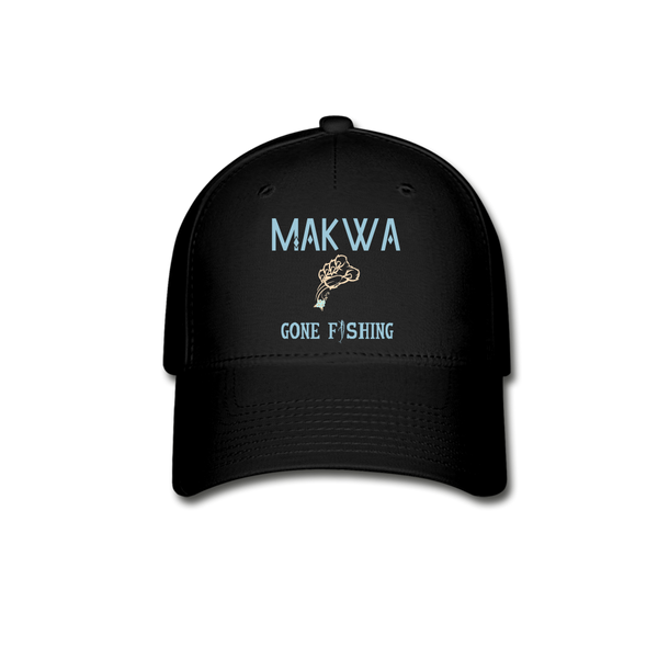 Makwa Gone Fishing Hat - black
