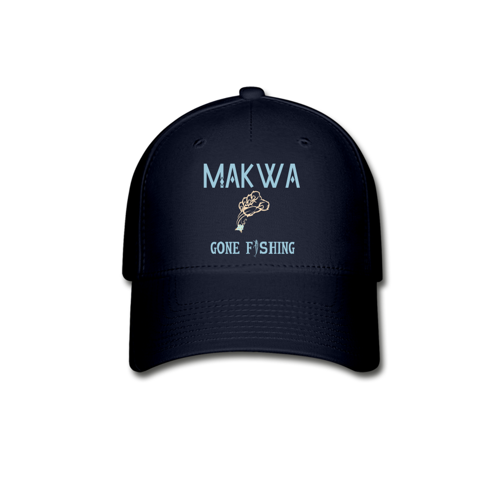 Makwa Gone Fishing Hat - navy