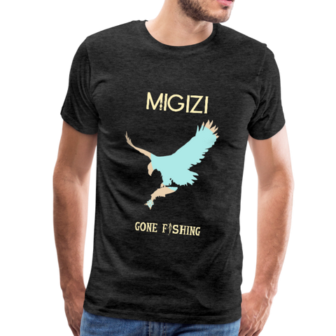 Migizi Giigoonh Men's Premium T-Shirt - charcoal gray