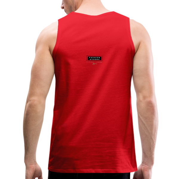 Ojibwe Eagle with Flowers Men's Premium Tank - red