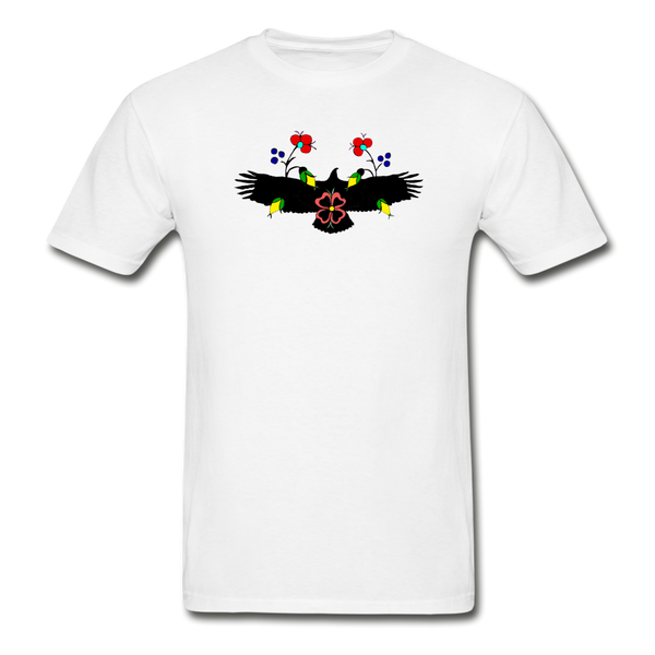 Ojibwe Eagle with Flowers Gildan Ultra Cotton Men's T-Shirt - white