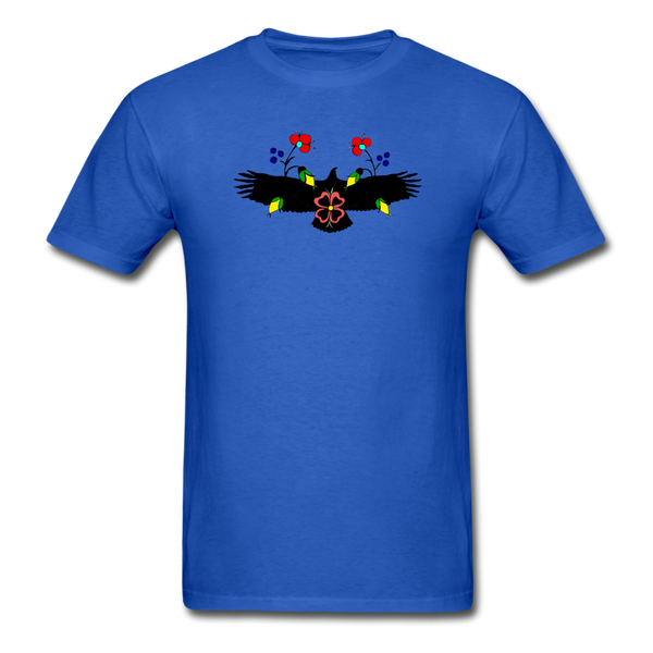 Ojibwe Eagle with Flowers Gildan Ultra Cotton Men's T-Shirt - royal blue