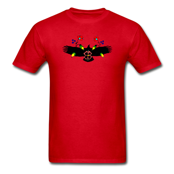 Ojibwe Eagle with Flowers Gildan Ultra Cotton Men's T-Shirt - red