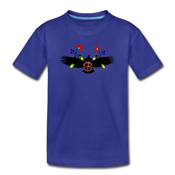 Eagle with Flowers Kids' Premium T-Shirt - royal blue