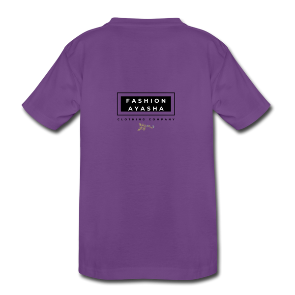 Princess Fashion Ayasha Kids' Premium T-Shirt - purple
