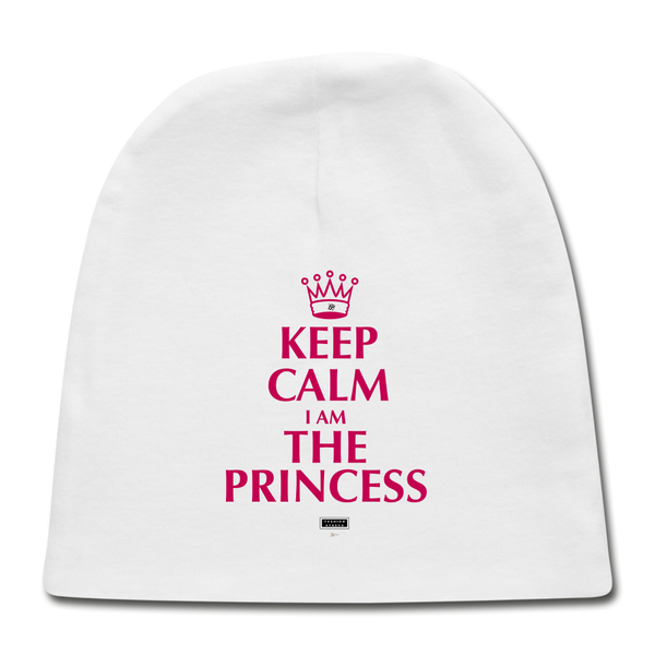 Keep Calm I am the Princess Baby Cap - white