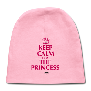 Keep Calm I am the Princess Baby Cap - light pink
