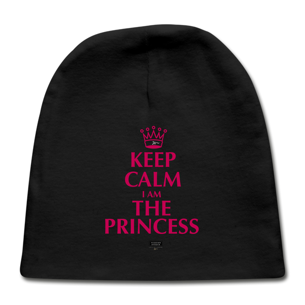 Keep Calm I am the Princess Baby Cap - black