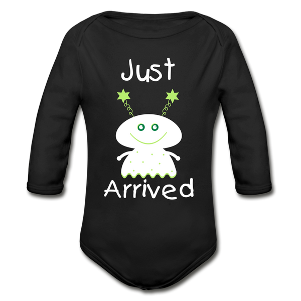 Organic Long Sleeve Baby Bodysuit - black