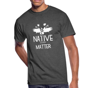 Native Lives Matter Men's T-Shirt - heather black