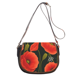 Red Poppies Ayasha Flower Logo Crossbody Bag