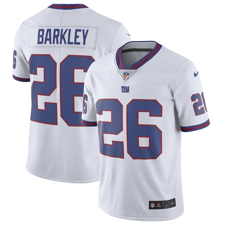 innovative design 206bb 793cd Saquon Barkley New York Giants Nike Color Rush Limited Jersey - White