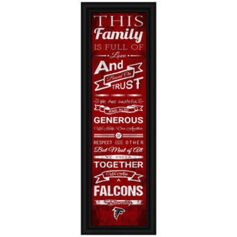 Atlanta Falcons Family Plaque