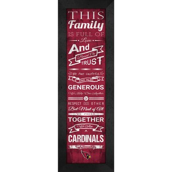 Arizona Cardinals Family Plaque