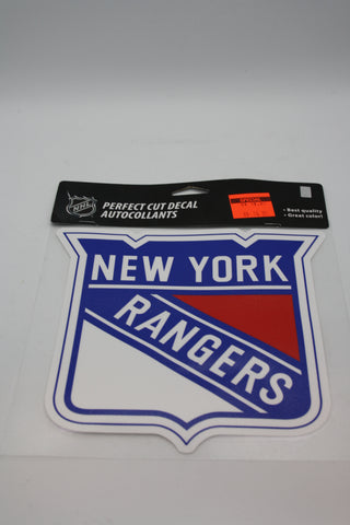 New York Rangers 8x8 Decal